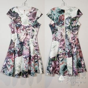 Ted Baker L Illuminated Bloom Floral Scuba Dress